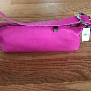 Small pink Express genuine leather bag.Tag on $38.